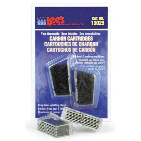 Lees Aquarium & Pet Disposable Carbon Cartridge (2 Pack)