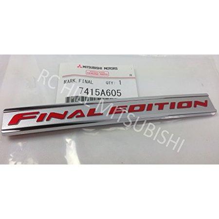 last ones available! 7415A605 2015 GENUINE MITSUBISHI LANCER EVOLUTION EVO X FINAL EDITION LOGO EMBLEM LIMITED