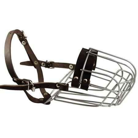 Metal Wire Basket Dog Muzzle Doberman Pinscher Male. Circumference 12