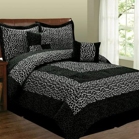 Fashion St. 6-Piece Micro Suede Bedding Set, Leopard
