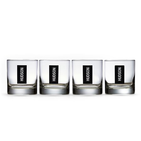 - Personalized RedEnvelope Double Old Fashioned Glassware Set Initial