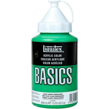 - Liquitex BASICS Acrylic Paint 13.5oz-Light Green Permanent