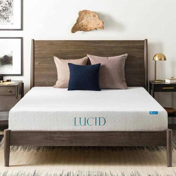 "Lucid 8"" Dual Layered Memory Foam Mattress, Multiple Sizes"