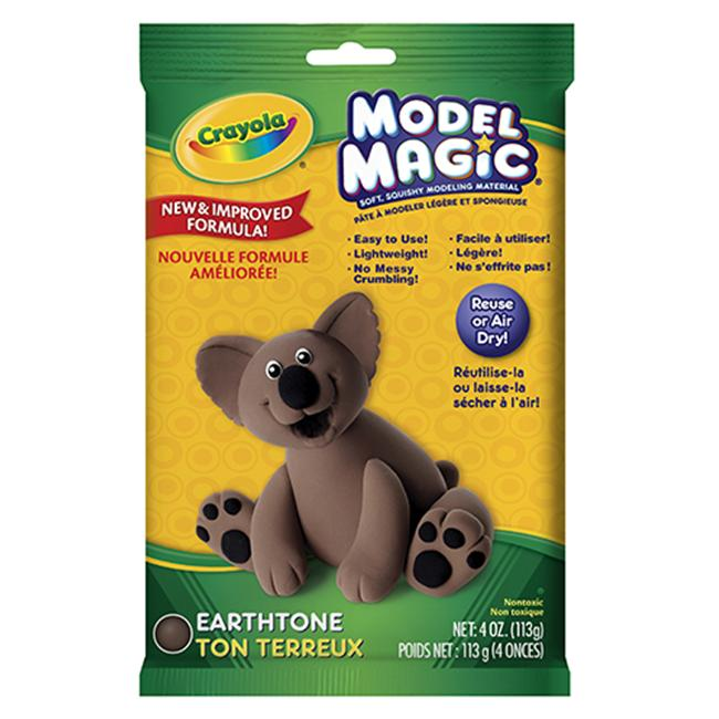 CRAYOLA LLC FORMERLY BINNEY & SMITH BIN4459 CRAYOLA MODEL MAGIC MODELING COMPOUND-EARTH TONE