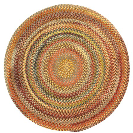 Capel Rugs Eaton 15 in. Round Braided Dining Chair Pad