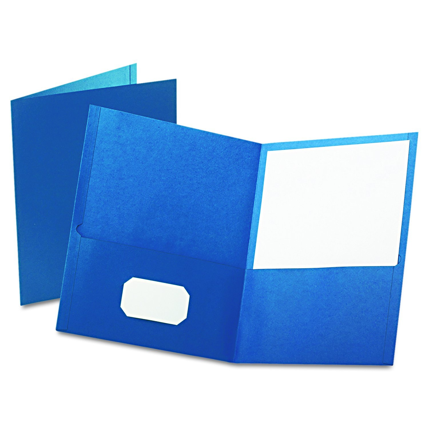 Twin Pocket Folders, Letter Size, Blue, 25 per Box (57502), Twin pockets hold 50 sheets each By Oxford