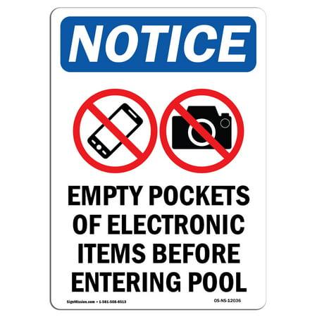 OSHA Notice - Empty Pockets Of Electronic Sign With Symbol | Heavy Duty
