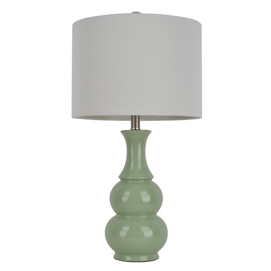 Decor therapy 265 inch green ceramic table lamp walmart decor therapy 265 inch green ceramic table lamp mozeypictures Choice Image