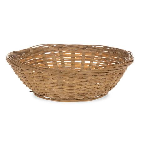 Round Bamboo Tray Utility Basket (Wide Utility Tray)