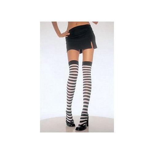 Leg Avenue Nylon Striped Stockings 6005