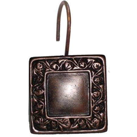 Lakewood Resin Shower Curtain Hooks In Oil Rubbed Bronze