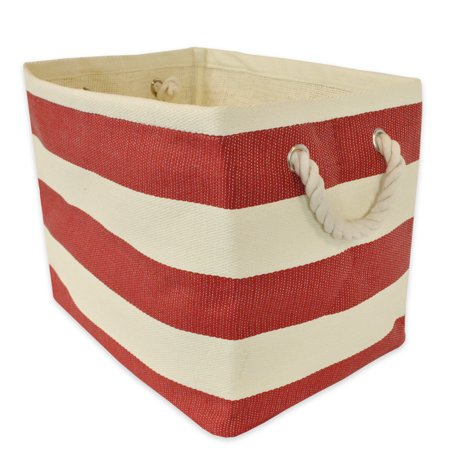 X-Large Red Stripe Woven Paper - Paper Containers