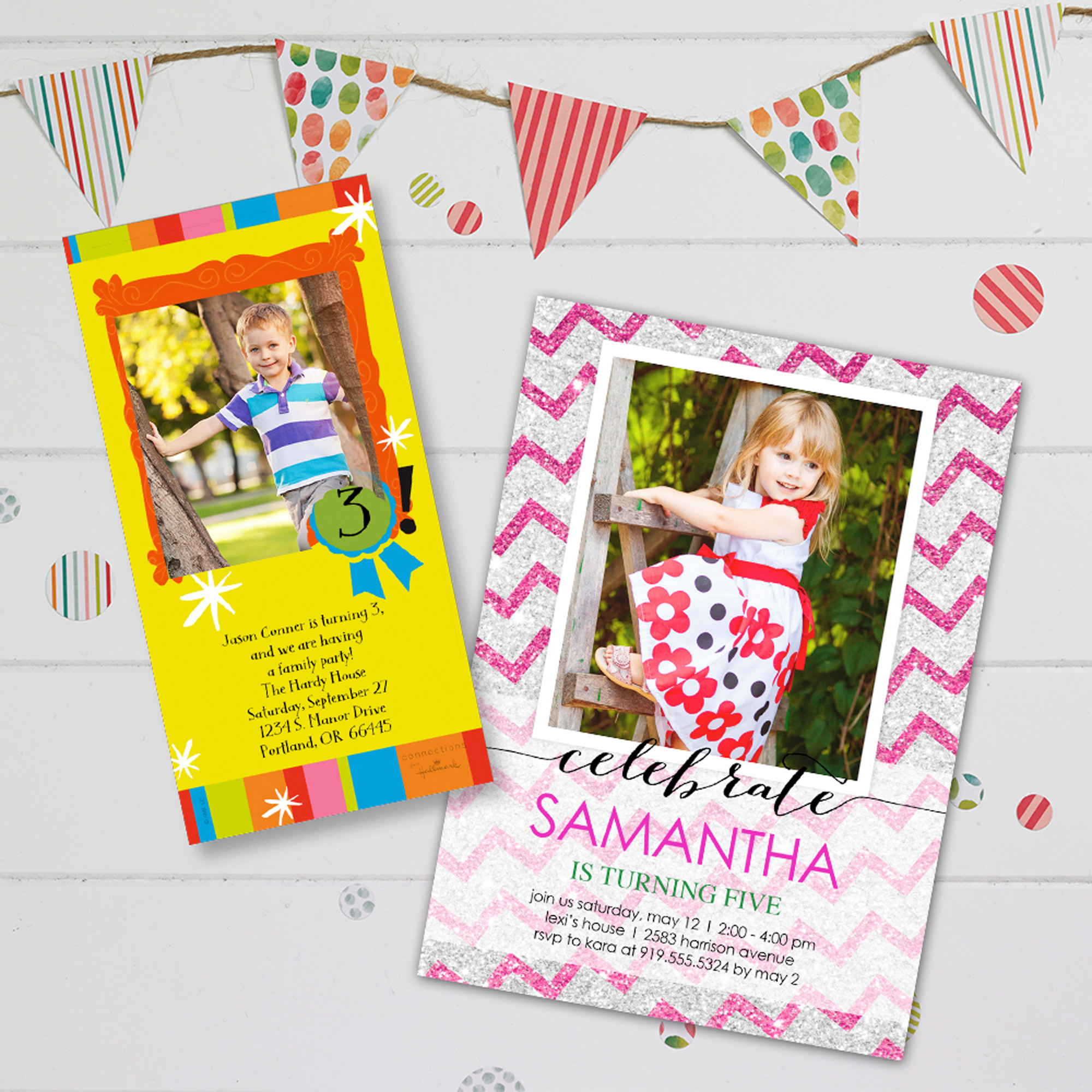 Birthday Photo Greeting Cards And Invitations Walmart