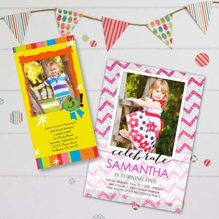 Birthday Photo Greeting Cards and Invitations Walmart – Walmart Photo Invitation Cards