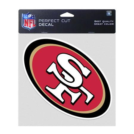 01d6672c NFL San Francisco 49ers Secondary Logo Perfect Cut Color Decal 8