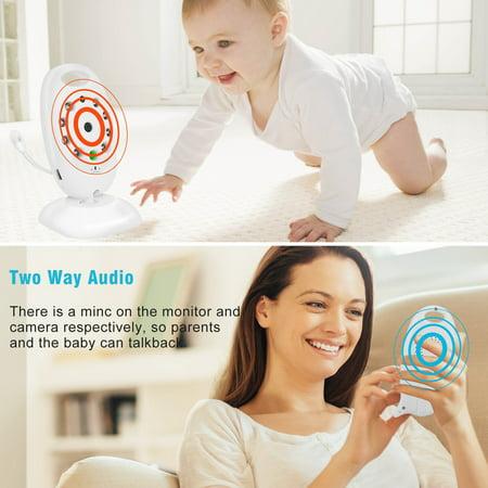 Barbala Baby Monitor Camera, 2 Way Realtime Audio Talkback LCD Screen Digital Video Night Vision Temp Sensor Nanny Security Camera Home Security System - image 8 of 9