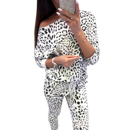 d5f95ea13ade5 Sexy Dance - 2 Pieces Women Camouflage Leopard Print Tracksuits Set Lounge  Wear Ladies Top Suit Pant Ladies Casual Sports Long Sleeve Blouse Sets -  Walmart. ...