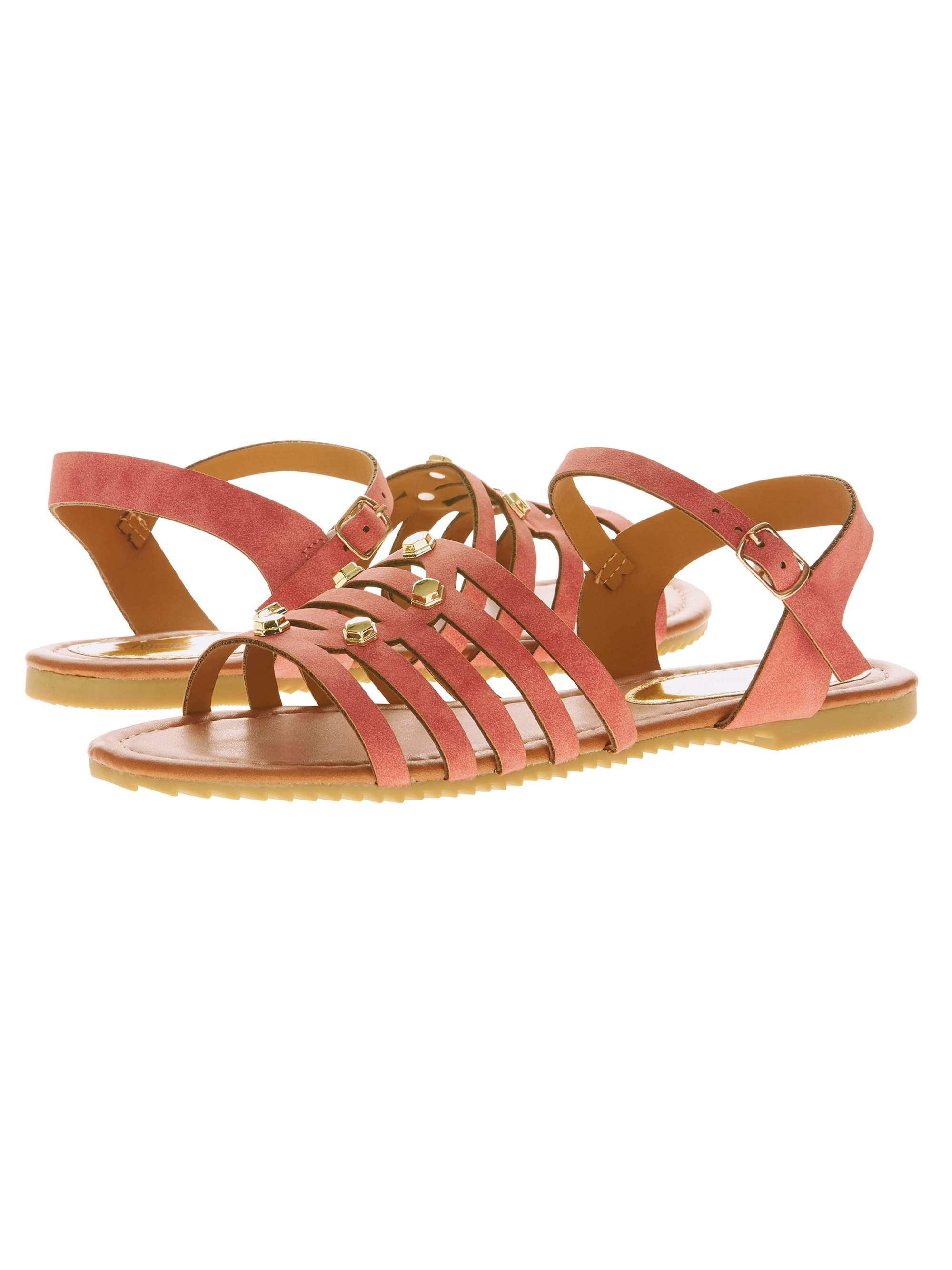 Victoria K Women's Studded Cross Over Sandals