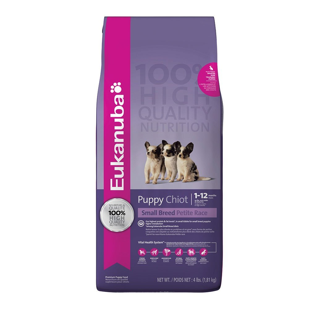 Eukanuba Small Breed Puppy Food 4 lb. by