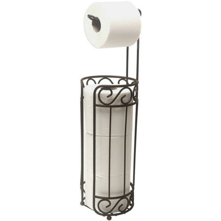 Home Basics Bronze Toilet Paper Holder and (Metal Tissue Dispenser)