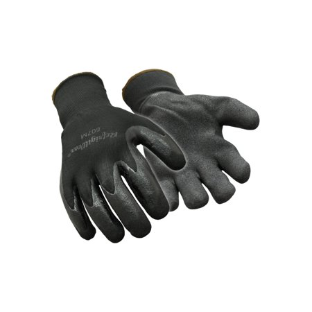 RefrigiWear Warm Dual Layer Thermal Ergo Grip Gloves with Nitrile Coated Palm