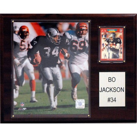 C&I Collectables NFL 12x15 Bo Jackson Oakland Raiders Player Plaque