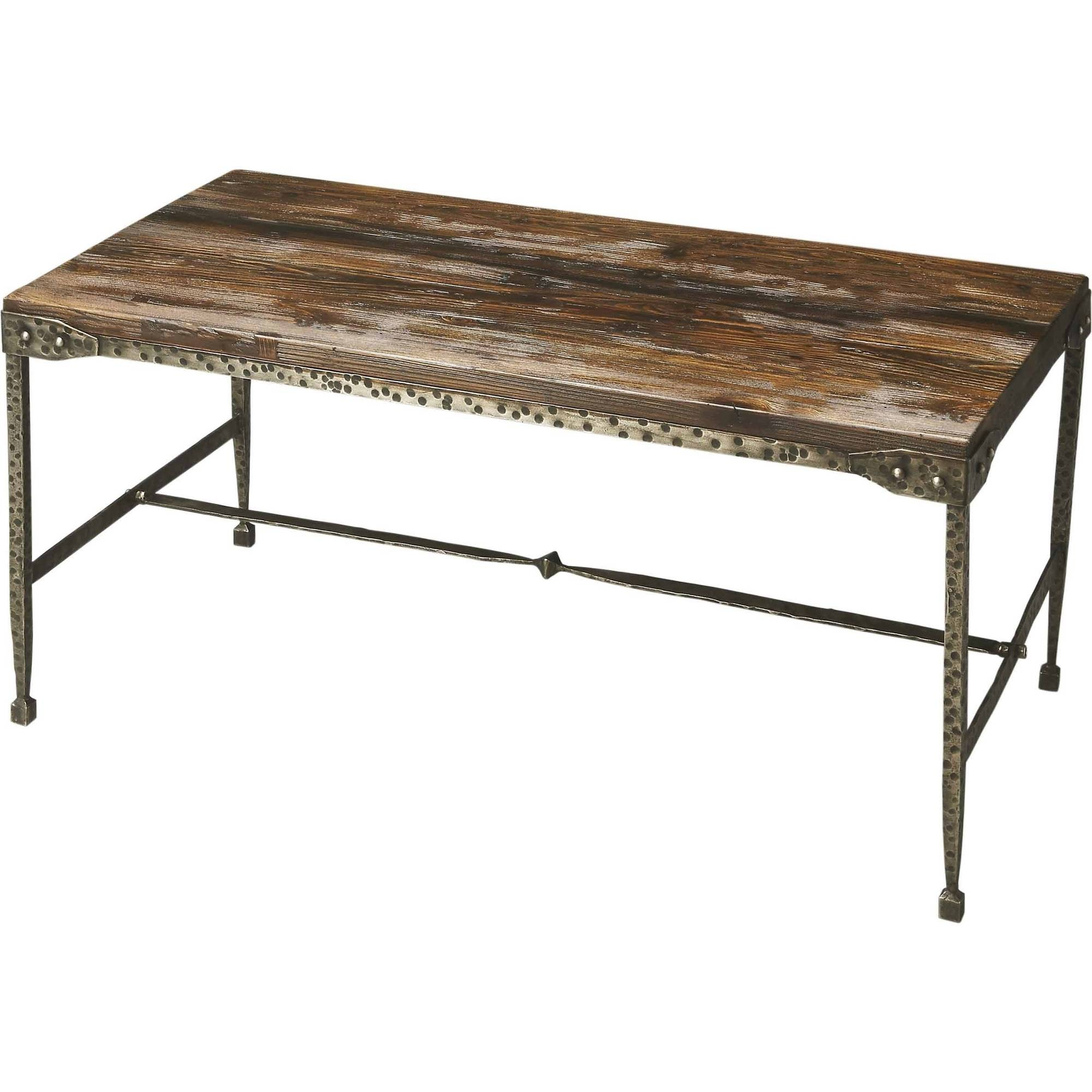 Click here to buy Butler Mountain Lodge Gratton Iron and Wood Cocktail Table by Butler Specialty Company.
