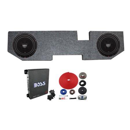2) ROCKFORD R2SD4-12 12 Inch Subwoofers + Dodge Ram Quad Cab Box + Amp +  Wiring