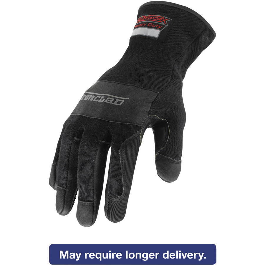 Ironclad Heatworx Heavy Duty Gloves, Black/Grey, Large
