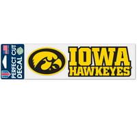 Iowa Hawkeyes Official NCAA 3 inch x 10 inch  Die Cut Car Decal by WinCraft