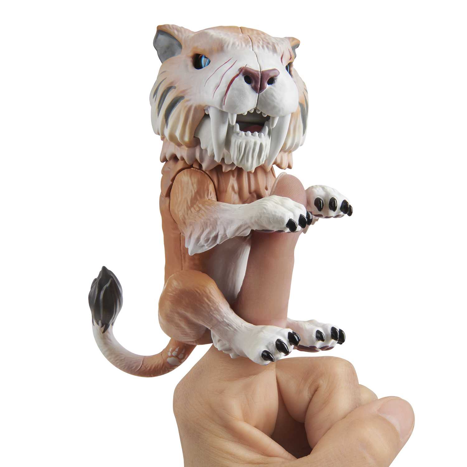 Untamed Sabre Tooth Tiger by Fingerlings – Bonesaw (Bronze) – Interactive Collectible Toy – By WowWee