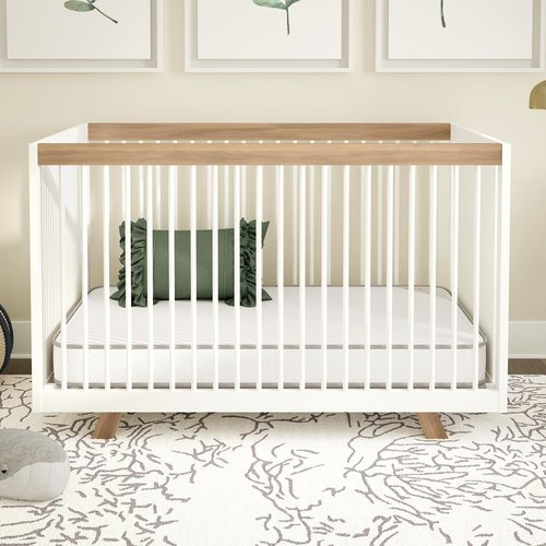 Harriet Bee June 2- in-1 Crib and Toddler Mattress by Harriet Bee