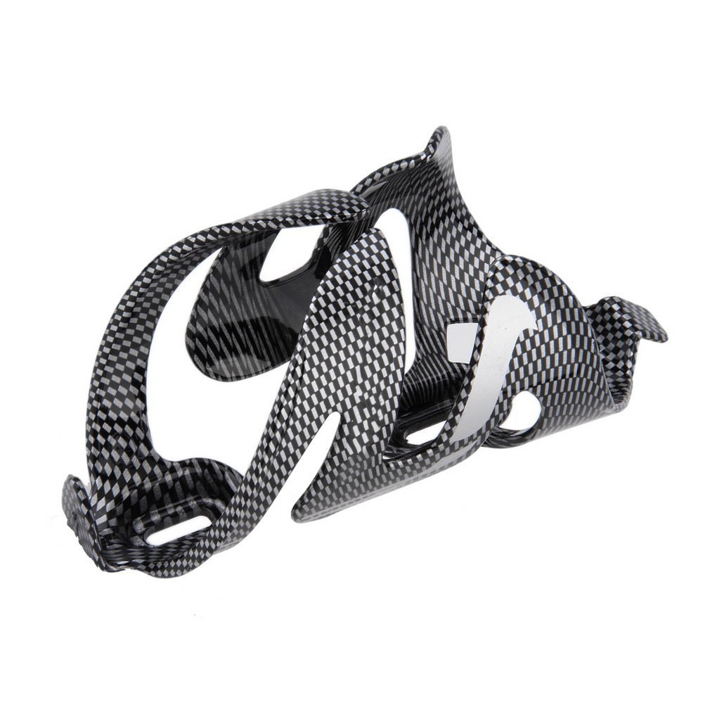 Outdoor Cycling Bike Bicycle Carbon Fiber Water Bottle Holder Rack Cages Black