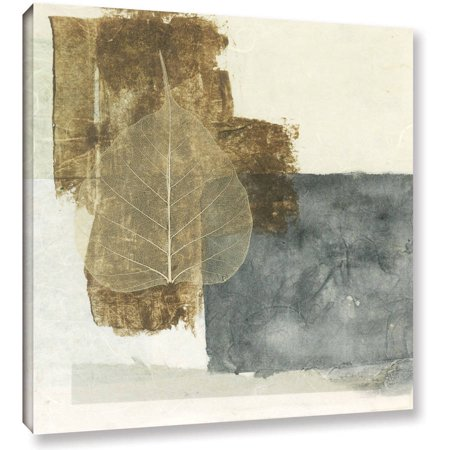 Artwall Elena Ray   Wabi Sabi Bodhi Leaf Collage 5   Gallery Wrapped Canvas