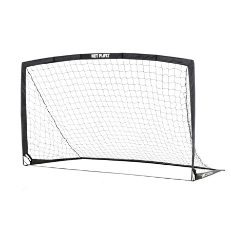 Soccer Trainer Goal (Net Playz Portable Training Soccer Goal ( Sets up in 5 minutes) - Includes Carry Bag and 4)
