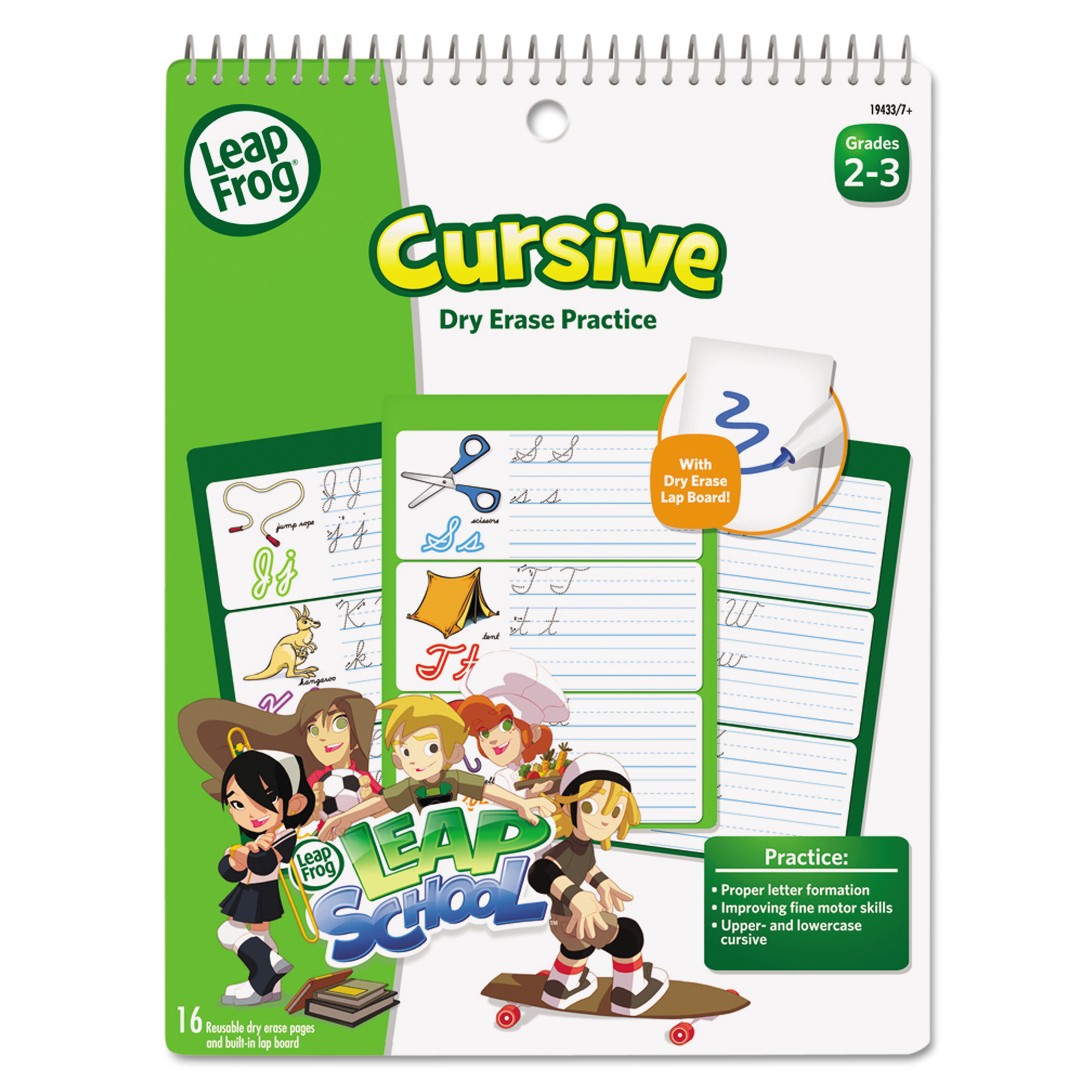 The Board Dudes LeapFrog SmartDudes LeapFrog Activity Book, Cursive, Dry Erase, 16 Pages by THE BOARD DUDES