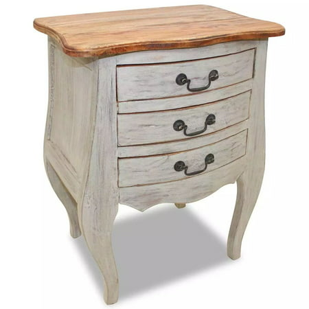 "Bedside Table Solid Recycled Wood 18.9"" x13.8"" x 25.2"""