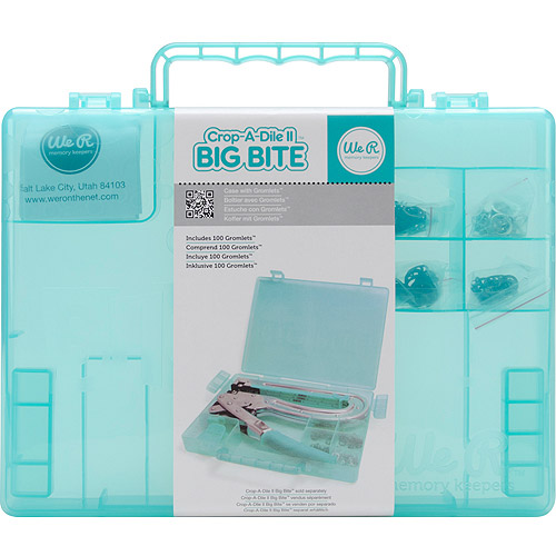 Crop-A-Dile II Case with Grommets, Teal