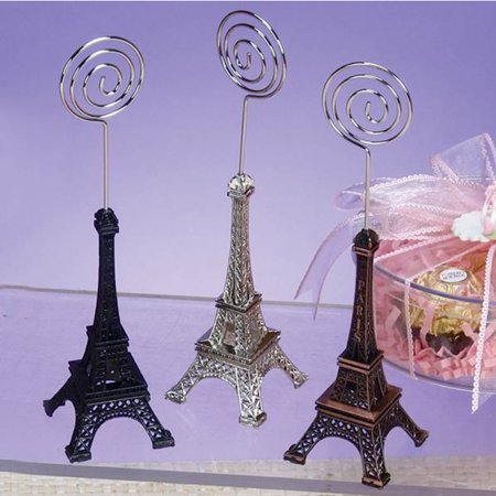 (15 Pack) Eiffel Tower Place Card Holders Clips Name Metal Paris Rustic Wedding Favors Decoracion XV Boda - Decoracion Halloween Barato