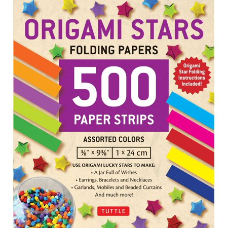 Origami Stars Papers 500 Paper Strips In Assorted Colors 10 Colors