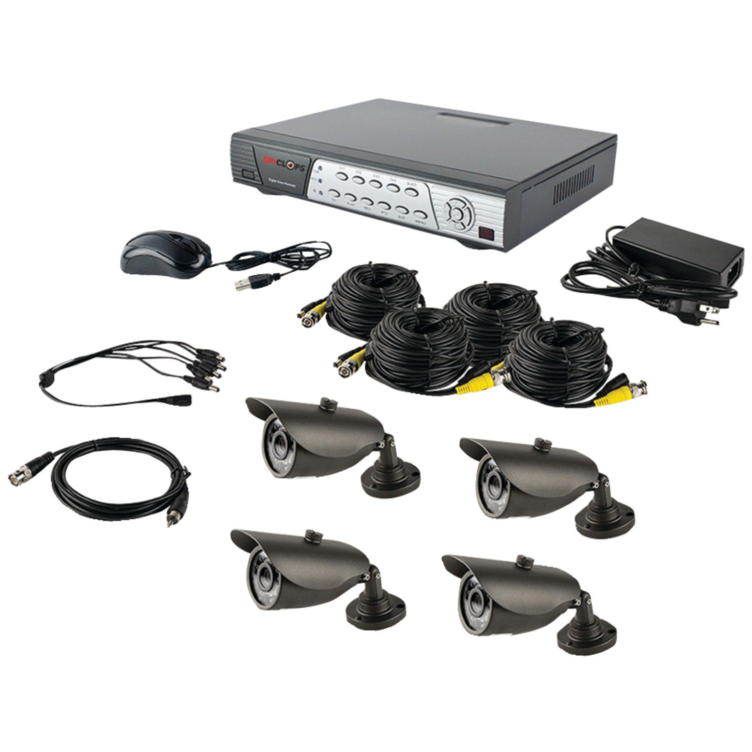 Ethereal SPY-DVRKIT2 DVR Kit with 4 Bullet Cameras