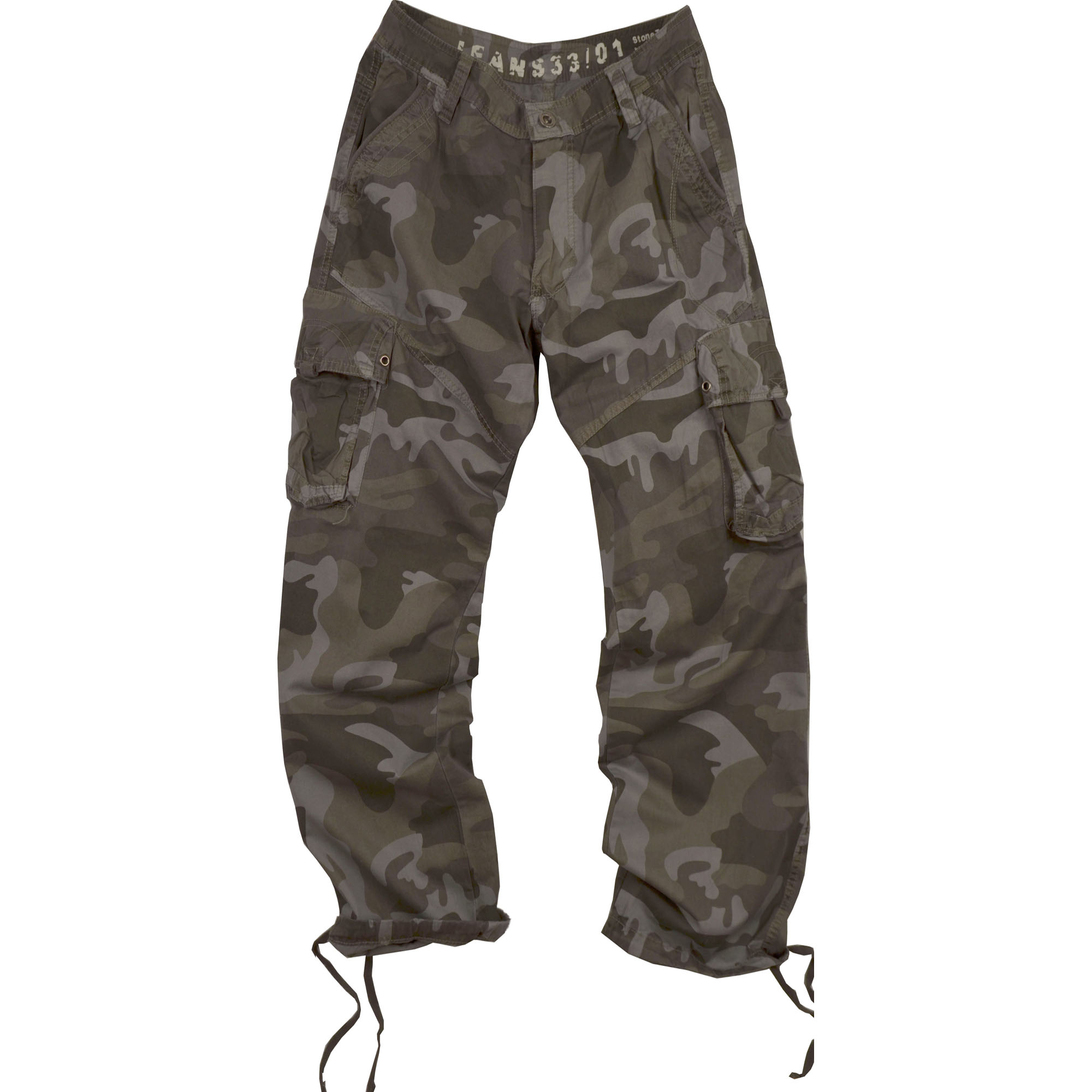 StoneTouch Men's Military-Style Camo Cargo Pants 28C1_C3 by