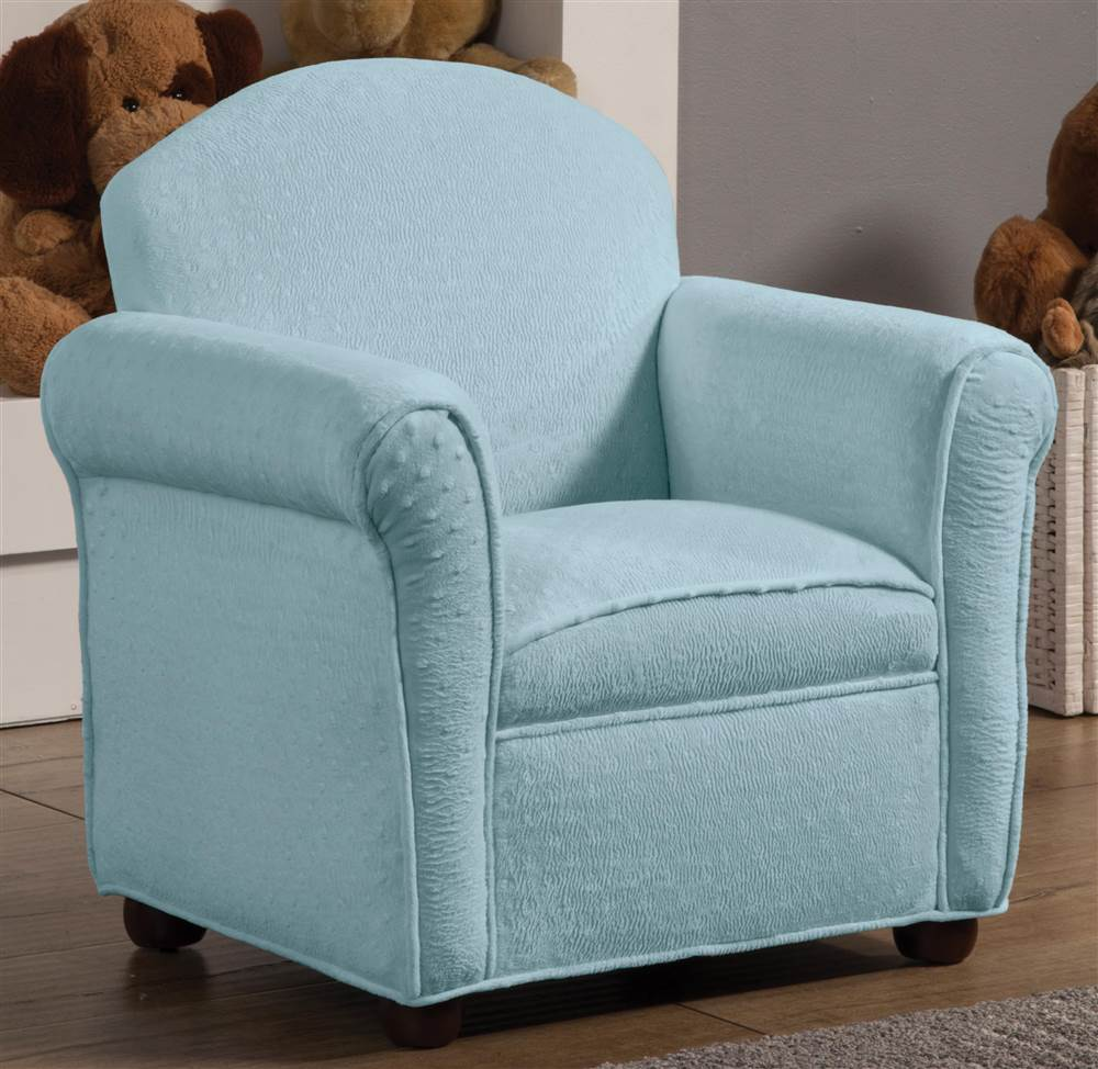 Club Chair with Blue Fabric