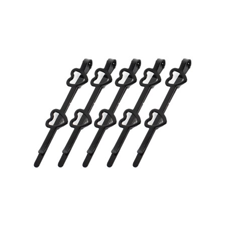 Unique Bargains 5 Pieces Metal Hearts Decor Hairstyle Hair Pins Hair Clips Black for Lady