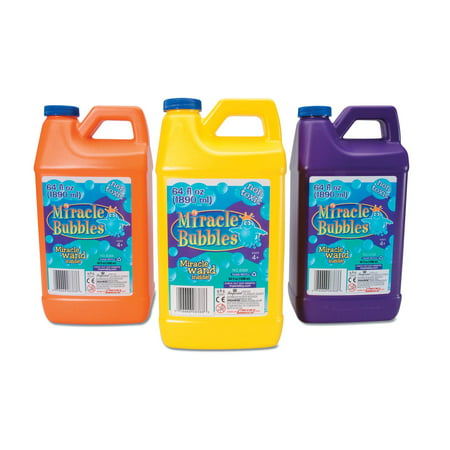 Miracle Bubbles Bubble Solution: 64 oz (Solution Night Refill)