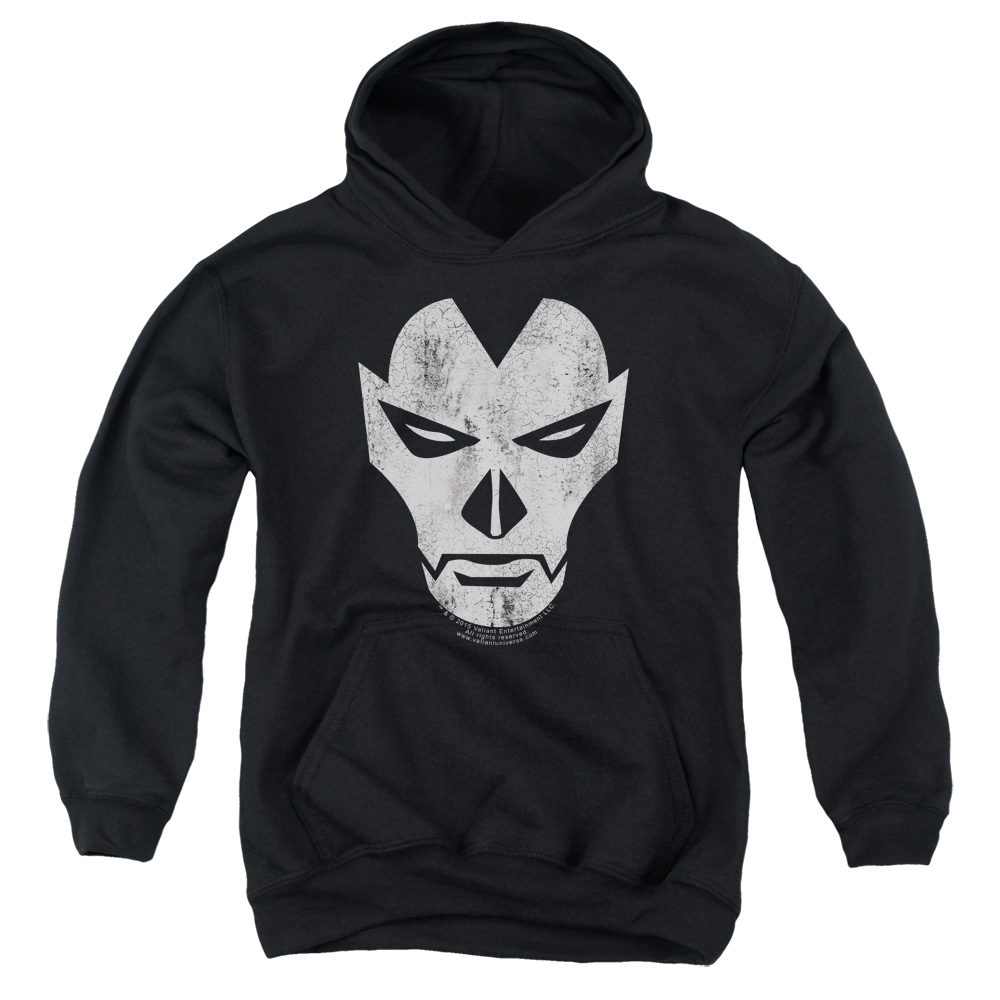 Shadowman Face Big Boys Pullover Hoodie
