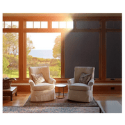 Rabbitgoo Blackout Window Film Non-Adhesive, Total Light Blocking - Privacy Black Window Sticker for Room Darkening, Static Cling Dark Window Tint Film for Day Sleep & Security (17.5 x 78.7 inches)