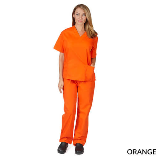 NATURAL UNIFORMS WOMENS SOLID V-NECK SCRUB SET FREE (Natural Uniforms Scrubs)