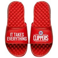 LA Clippers ISlide Youth Team Slogan Slide Sandals - Red