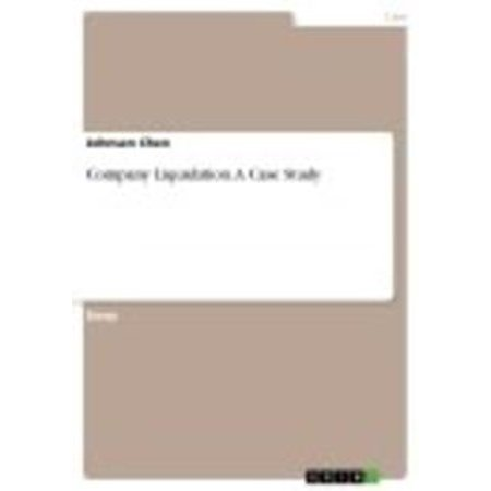 Company Liquidation  A Case Study - eBook